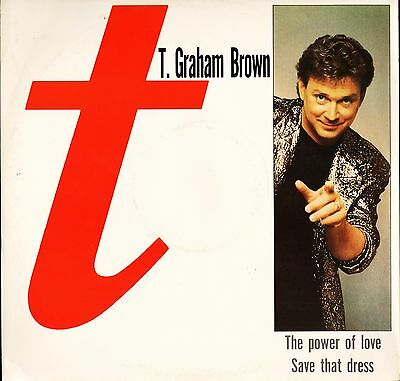 "T GRAHAM BROWN the power of love 12"" PS uk 12CL 494"