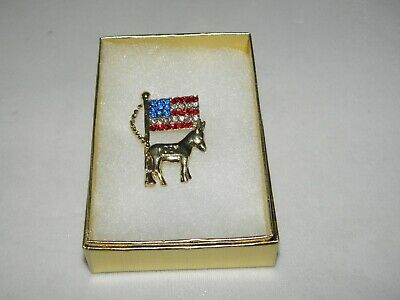 Austrian Crystal Lapel Pin Democrat Dfl President Political Convention
