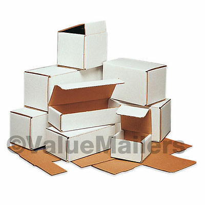 50 -  12x4x4 White Corrugated Shipping Mailer Packing Box Boxes