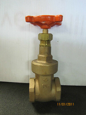 "Stockham B-128 B128 1 1/2"" Npt 300 Cwp 150 Swp Brass Gate Valve New"