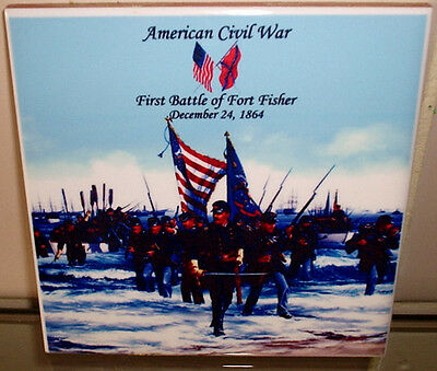 American Civil War - First Battle of Fort Fisher CERAMIC WALL TILE