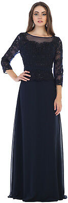 MOTHER of the BRIDE GROOM GOWN PLUS SIZE FORMAL EVENING DRESS LONG SLEEVE JACKET
