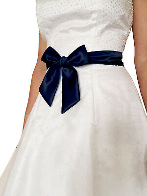 "2""x58"" SATIN Fancy Dress Party Wedding SASH Band Tie Belt Bow Band Bridesmaid"