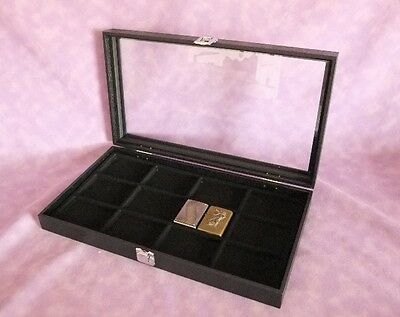 12 Slot Multi Purpose Glass Top Jewelry Display Case