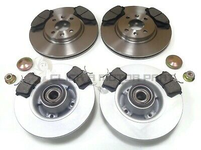 RENUALT MEGANE MK2 SALOON 02-08 REAR BRAKE DISCS PADS WHEEL BEARINGS ABS RINGS