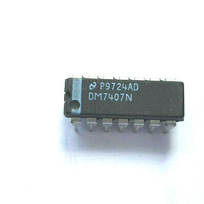 SN7407N 7407N Buffer/Driver 6-CH Non-Inverting Open Collector Bipolar DIP-14