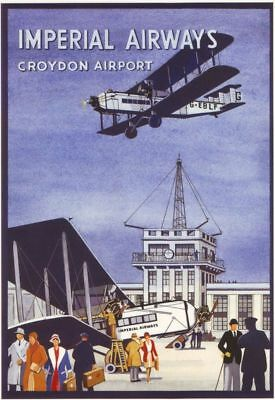 Vintage Croydon Airport Advertising A3 Poster Reprint