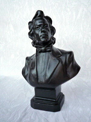 Polish composer and pianist Frederic Chopin metal bust H=18 cm.
