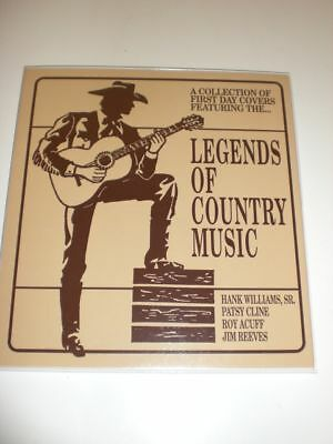 Legends Of Country Music Coll. Of First Day Covers New