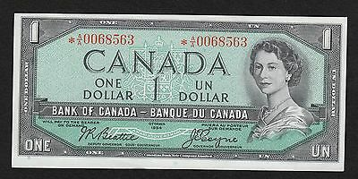 1954 Bank of Canada $1 Note (*A/A0068563)
