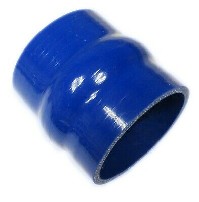 "BLUE Silicone Hose HUMP Coupler 63mm Straight (2.5"") Joiner"
