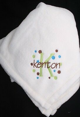 Personalized Monogrammed Baby Mini Security Blanket Six Colors to Choose