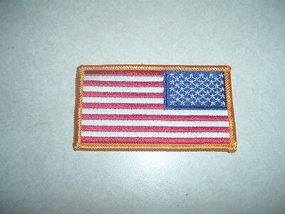 Patch Military Us American Flag Reverse Facing Shoulder Hook Lo Back For Acu Top