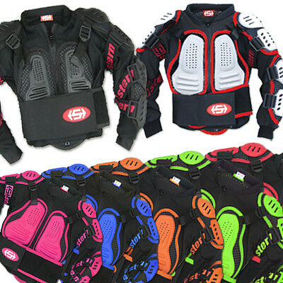 2016 KIDS STERN MOTOCROSS BODY ARMOUR PROTECTION suit jacket quad NEW black BIKE