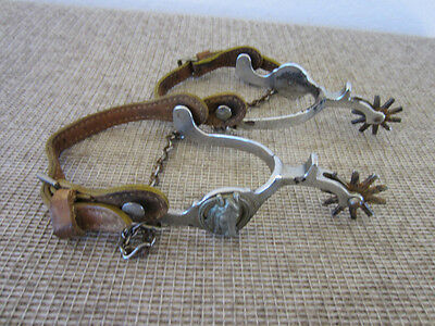 "Pair Of Western, Cowboy's, ""horse Head"" Riding Spurs"