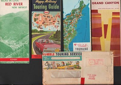 1963 Humble Oil Touring Service Pack - New Mexico / Arizona Maps Brochures