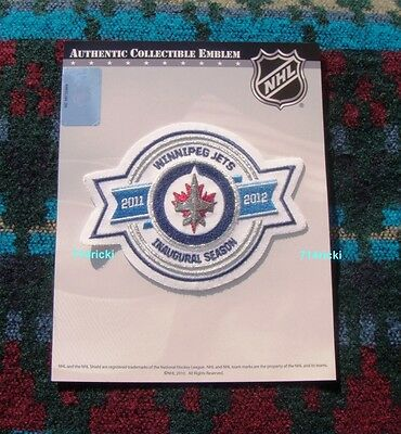 Official NHL 2011 2012 Winnipeg Jets Inaugural Season Collectible Patch