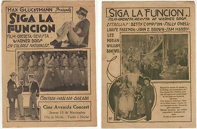 ON WITH THE SHOW! ,Betty Compson ,Sally O'Neil , Herald, 1929