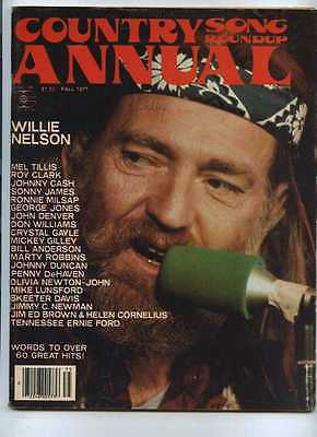 Country Song Roundup Annual Fall 1977 Willie Nelson Mel Tillis Johnny Cas MBX59