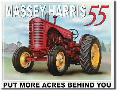 Massey Harris 55 TIN SIGN antique vintage tractor metal farm decor garage 1168