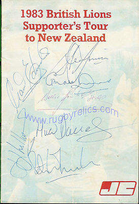 John Cory Supporters British Lions Tour 1983 Information Booklet