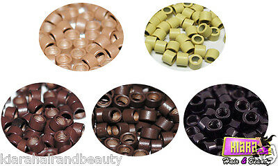200 Micro Rings Screw Thread for Hair Extensions 4mm Beads
