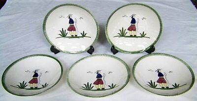 Set (5) Knowles NORMANDY PATTERN Soup Bowls