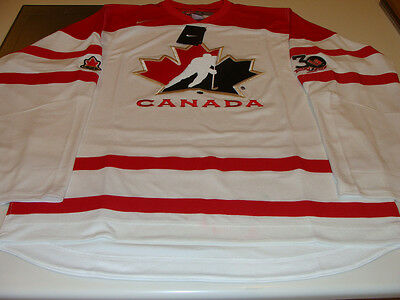Team Canada 2012 World Junior White 30th Anniversary Patch L Hockey Jersey