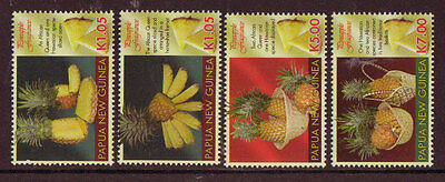 Papua New Guinea 2011 Pineapple Fragrance Set Of 4 Unmounted Mint, Mnh