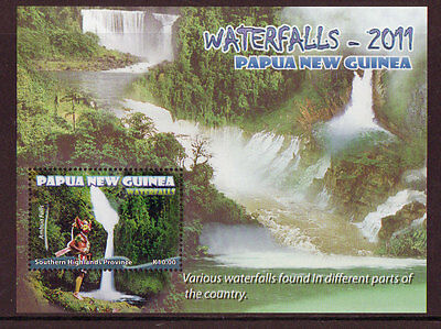 Papua New Guinea 2011 Waterfalls Miniature Sheet Unmounted Mint, Mnh