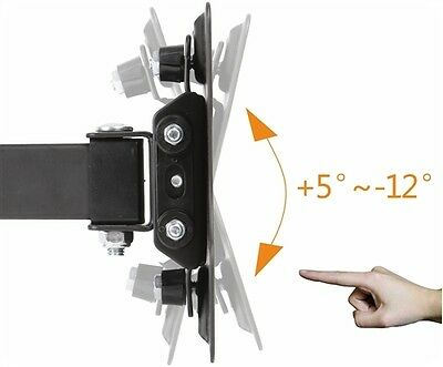 Corner-Full-Motion-TV-Wall-Mount-Articulating-Bracket-13-42-Inch-LED-LCD