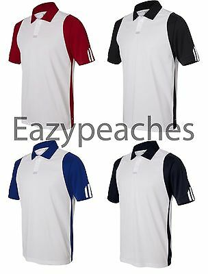 ADIDAS GOLF NEW Mens S-2XL, 3XL Climalite Colorblock dri-fit Polo Sport Shirts