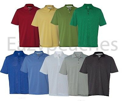 ADIDAS GOLF - Men's ClimaLite Tech, Cool Pencil Stripe Polo Sport Shirt, A60 A16