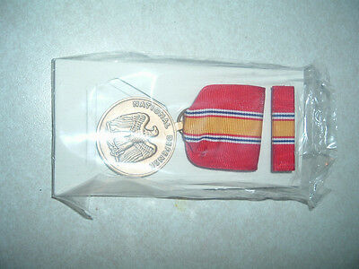 Genuine Us Military Medal National Defense Service With Ribbon Brand New