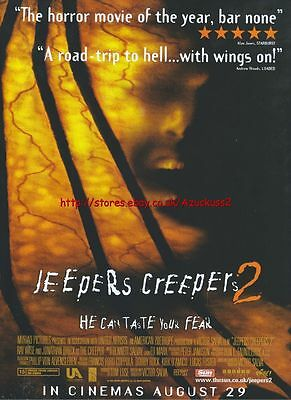 Jeepers Creepers 2 Cinema August 29th 2003 Magazine Advert #95