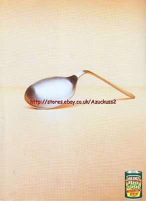 "Heinz Big Soup ""Spoon"" 2003 Magazine Advert #1691"