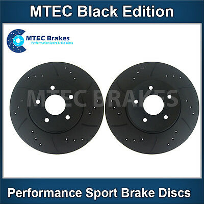 BMW E36 Saloon 318i 91-98 Front Brake Discs Drilled Grooved Mtec Gold Edition