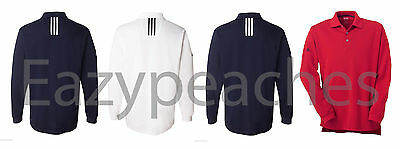 ADIDAS GOLF NEW Mens Size S-3XL a86 Climalite TOUR LONG Sleeve Polo Sport Shirt