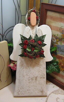 Hand Painted Hand Crafted Wooden Angel Door/Wall Decoration