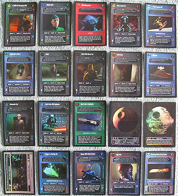 Rare Foil Cards Part 3//4 2 Star Wars CCG Reflections II Light Side