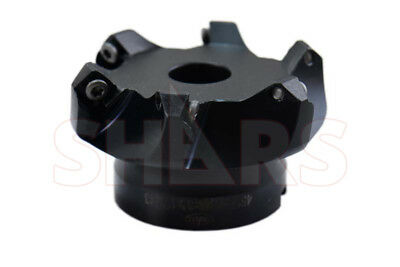 "Shars 3 "" 45° Indexable Face Mill 6FL SEHT SEHW Insert  NEW $136.05 OFF"