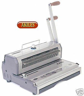 "Akiles WireMac-31 Wire Binding Machine & Punch 3:1 pitch 14"" ( New ) AWM-31"