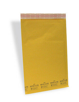 200 #3 8.5x14.5 Kraft Ecolite Bubble Mailers Padded Envelopes Bags