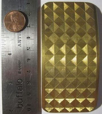 VINTAGE BRASS - 100mm x 49mm Curved Etched Rectangle JEWELRY FINDINGS - 2 Pieces