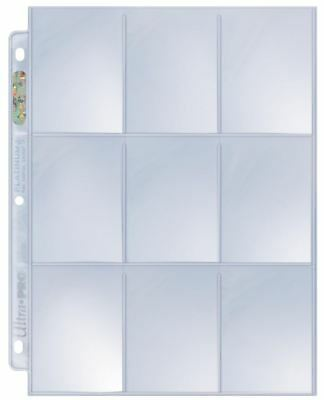 (10) Ultra Pro 9-Pocket Platinum Trading Card Album Pages Heavy Duty