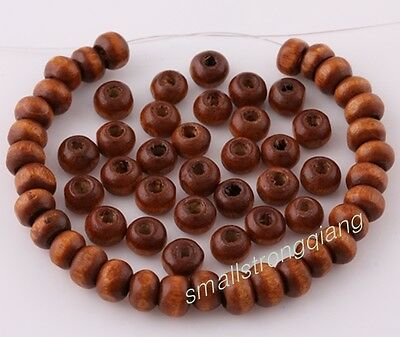 600 pcs Flat Wood loose Beads spacer beads charms Necklace findings 6x4mm