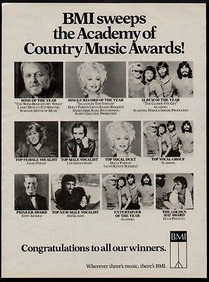 1984 Dolly Parton, Lee Greenwood, & Alabama Et El In A Bmi  Promo Ad