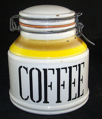 Vintage Coffee Canister Baldelli Italy Rustic Raymor Era Rustic Retro Colors