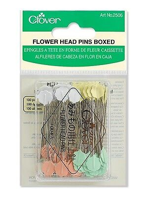 Clover Flower Head Pins (100 Boxed) 0.70mm x Length 54m
