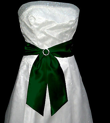 "4""x58"" SATIN Fancy Dress Party Wedding Ribbon SASH Band Belt Cravat Bridesmaid"